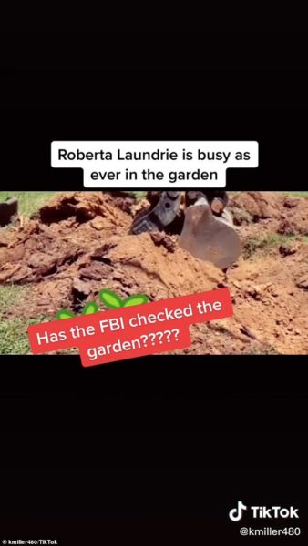 Many are sharing the viral video and asking the FBI to check the garden for signs of Brian