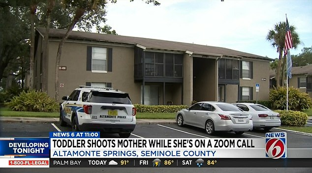 Prosecutors said Lynn's 2-year-old child found his father's loaded and unsecured gun in a Paw Patrol backpack in their apartment in Altamonte Springs (pictured)