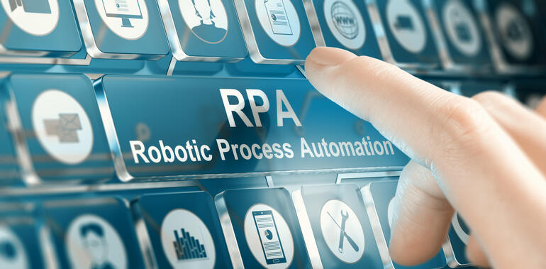 RPA, Robotic Process Automation Concept